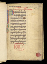 Decorated Initial And Ownership Inscriptions, In An Abridgement Of Part Of Cassiodorus's 'Collected Letters'